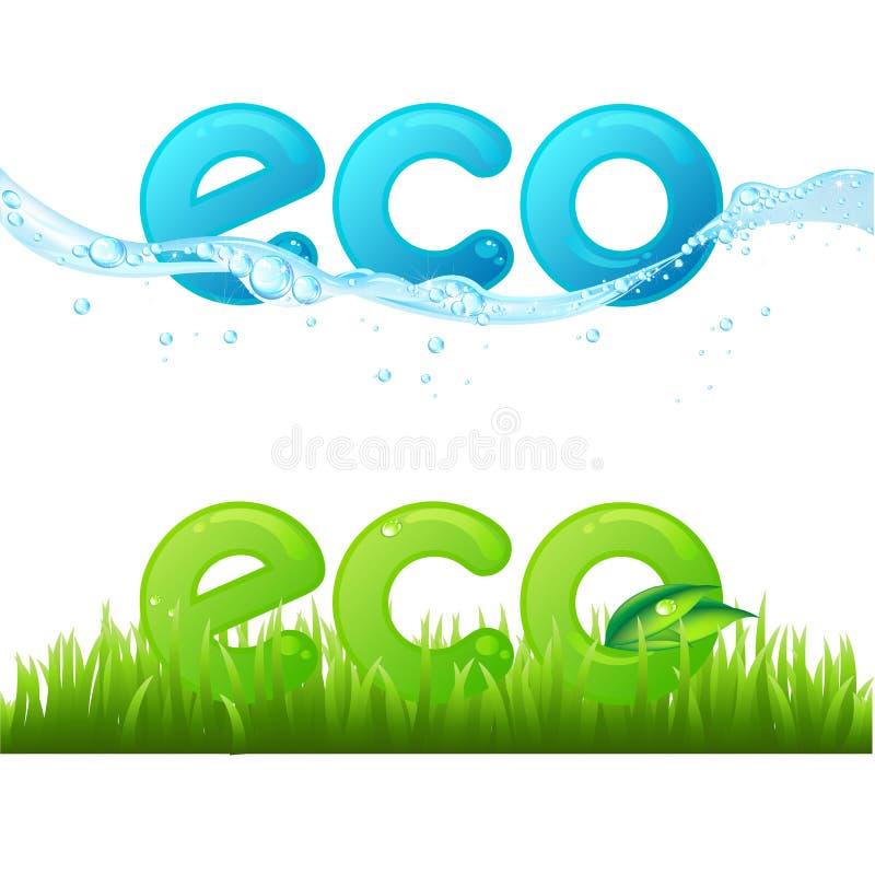 Eco ilustração do vetor