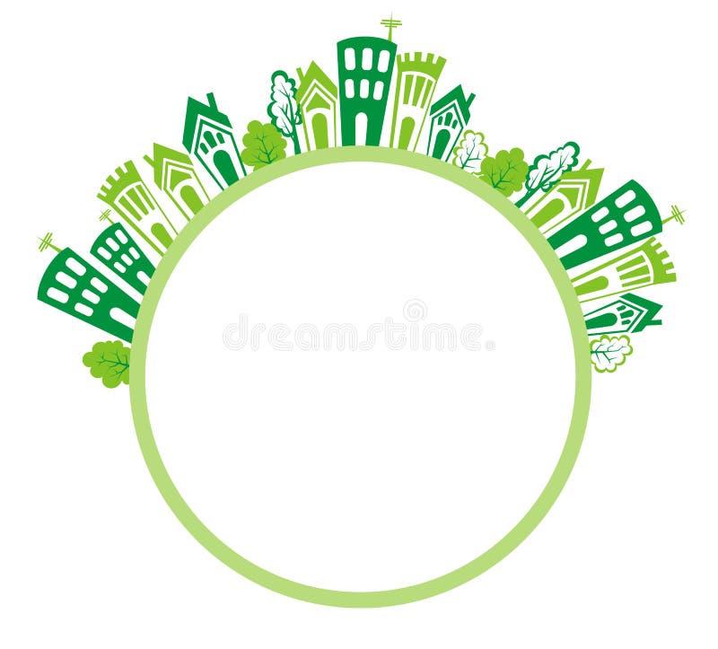 Eco abriga o quadro ilustração stock