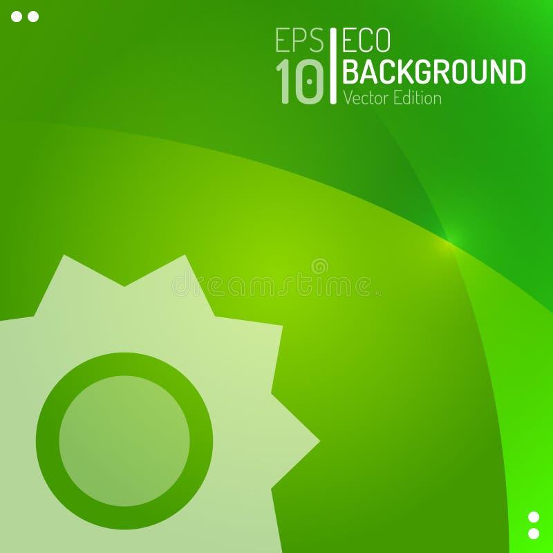 Eco Abstrakcjonistyczny Tapetowy szablon Wektoru klimatu słońca pogody Zielony tło EPS10 ilustracji