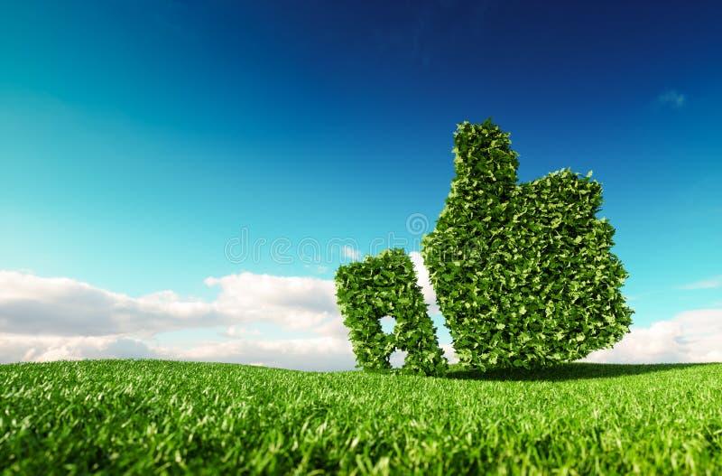 Eco amichevole, nessuno spreco, inquinamento zero, agreemen di controllo di clima royalty illustrazione gratis