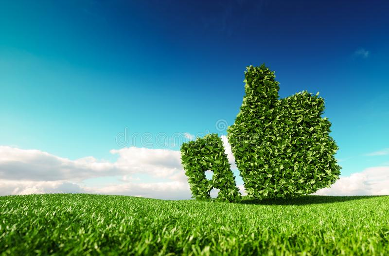 Eco amigável, nenhum desperdício, poluição zero, agreemen do controle do clima ilustração royalty free
