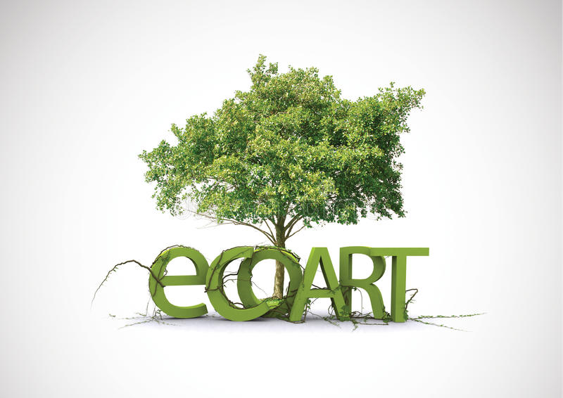 Eco Art stock photography