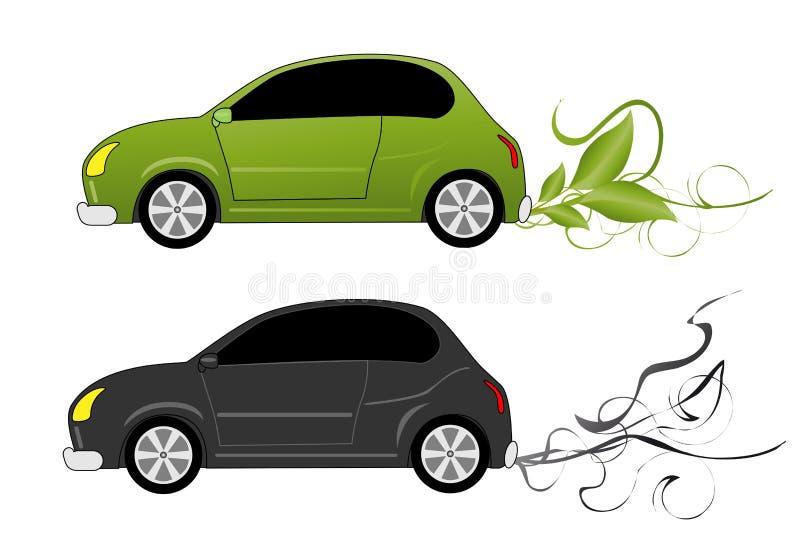 Eco Autokonzept vektor abbildung
