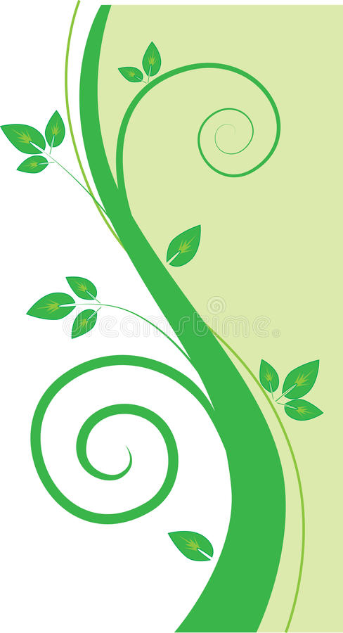 Download Eco background stock vector. Illustration of curly, leaves - 23935263