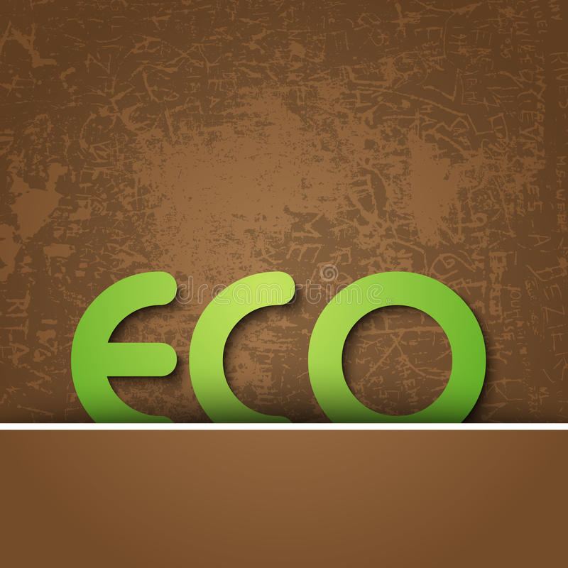 Eco background. With grungy texture stock illustration