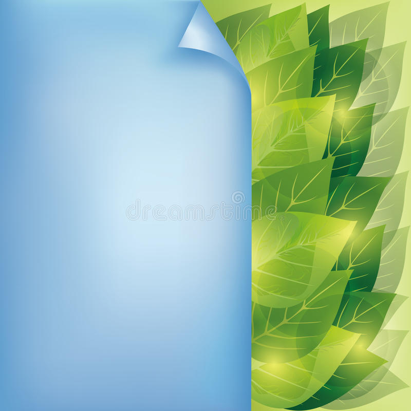 Download Eco Background With Leaves And Paper Stock Vector - Image: 24521138