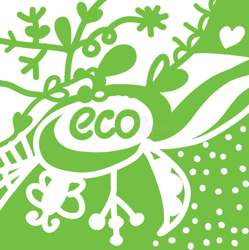 Download Eco Background With Symbols Stock Vector - Image: 25269723