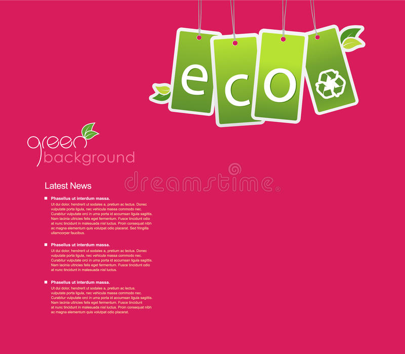 Download Eco Background For Your Own Text. Stock Vector - Illustration of internet, menu: 14341667