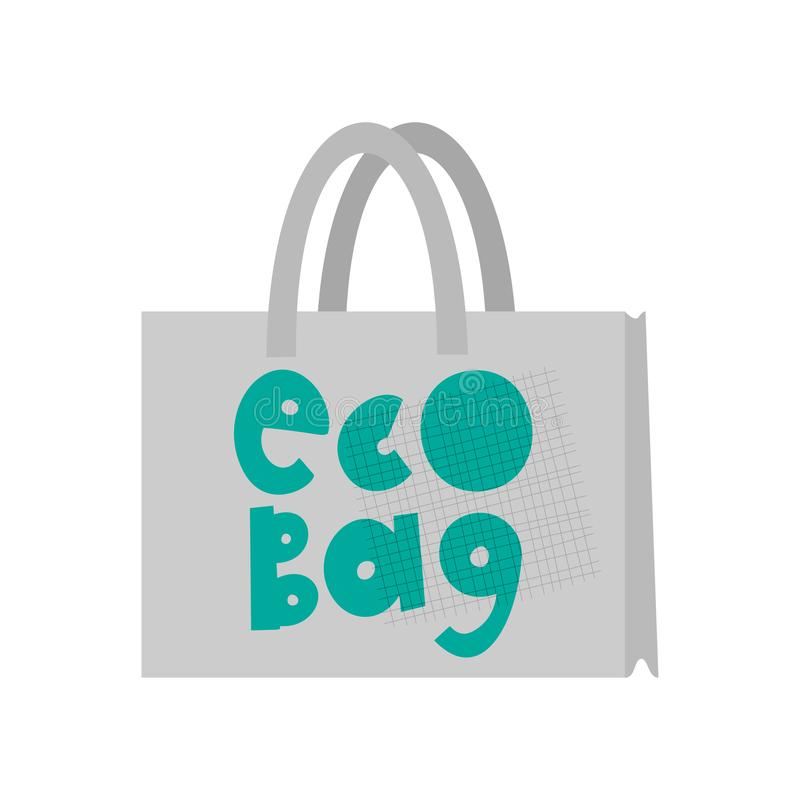 Eco bag cartoon illustration. Zero waste. Recyclable material, product vector clipart. Environment protection. Ecology friendly packaging. Organic, natural royalty free illustration