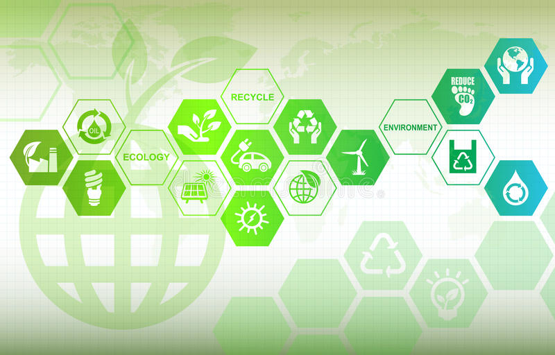 Eco bakgrund stock illustrationer