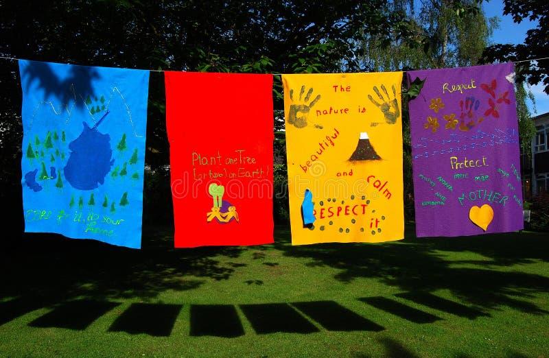Eco-bandeiras imagem de stock