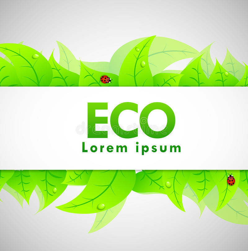 Download Eco Banner stock vector. Image of bokeh, banner, graphic - 19440468