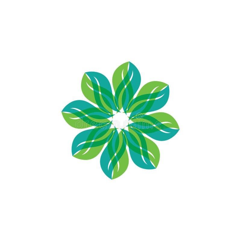 Eco-Baum-Blatt Logo Template stock abbildung