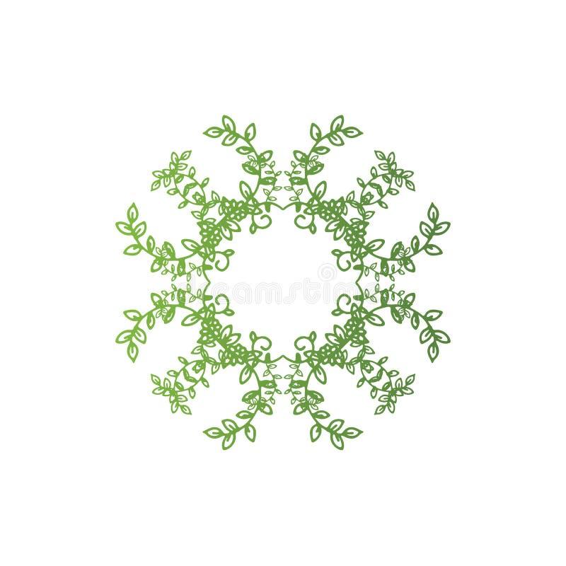 Eco-Baum-Blatt Logo Template lizenzfreie abbildung