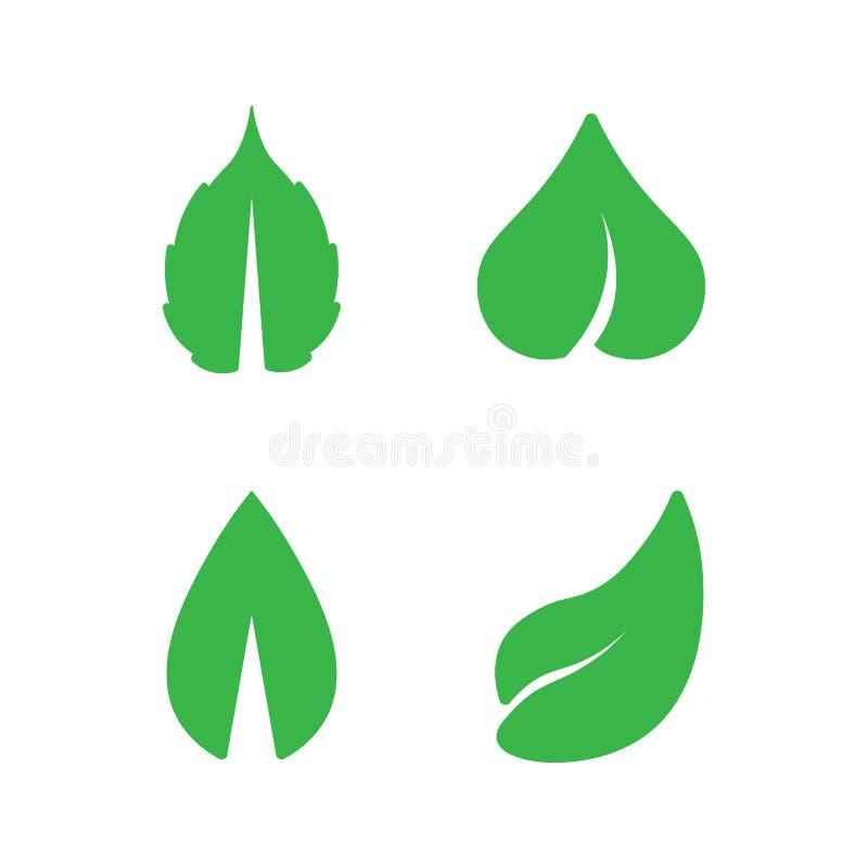 Eco-Baum-Blatt Logo Template vektor abbildung