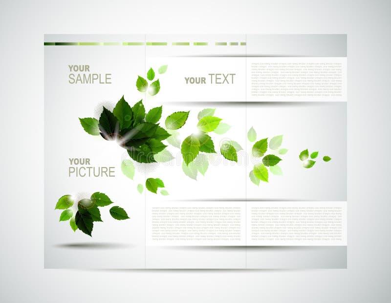Eco brochure vector illustration