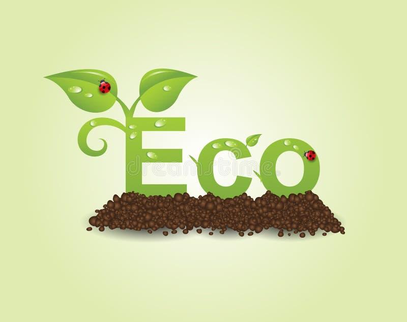 Eco caption royalty free illustration