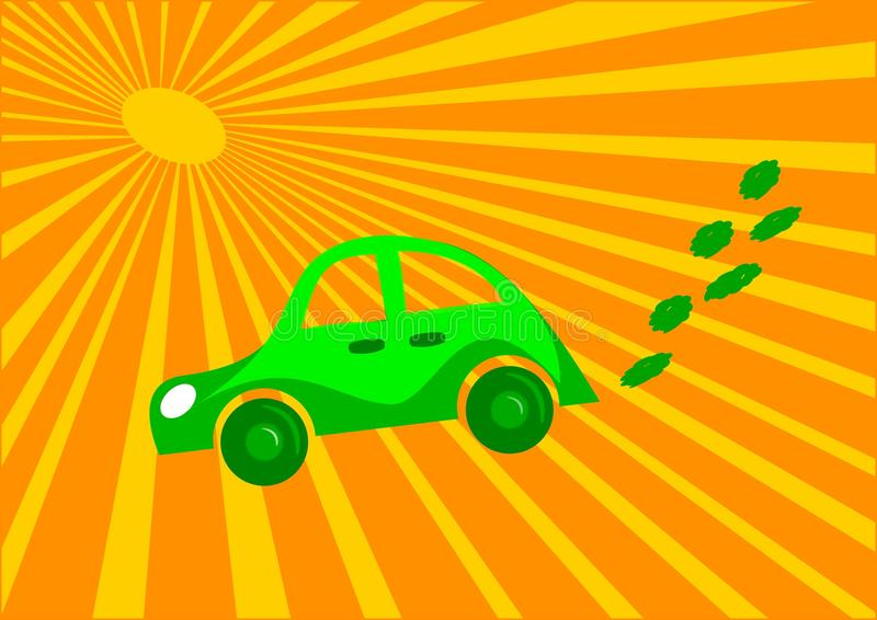 Download Eco car stock vector. Image of lawn, hybrid, ecology - 16516433