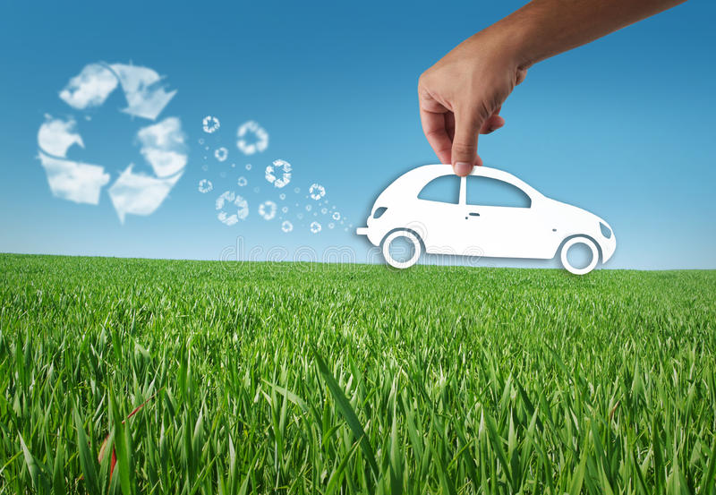 Download Eco car stock photo. Image of logo, blue, rive, grass - 21403072