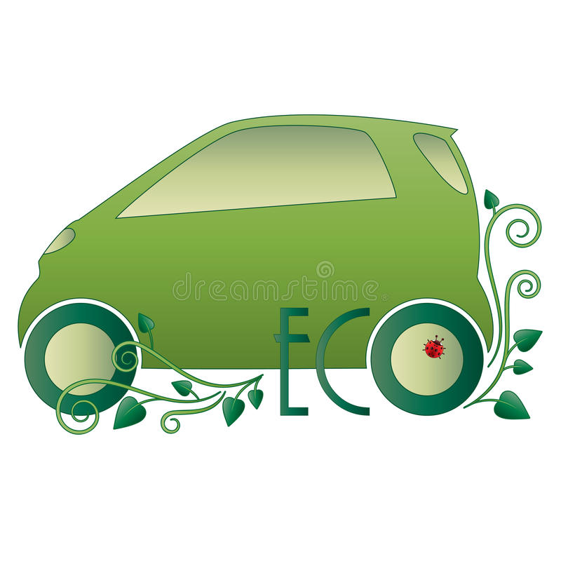 Download Eco car stock vector. Illustration of ecology, organic - 25101726