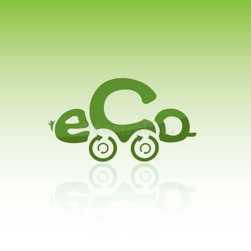 Eco car vector illustration