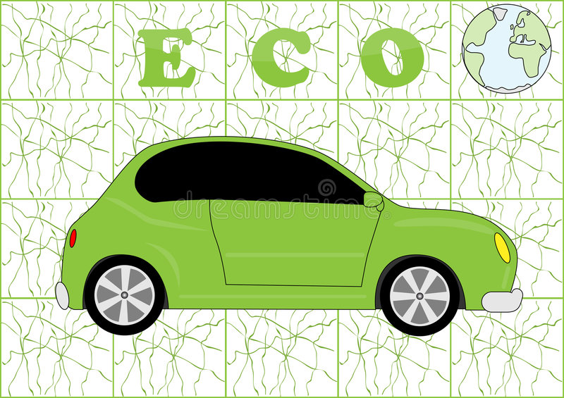Download Eco car stock vector. Image of detailed, path, fast, draw - 8171691