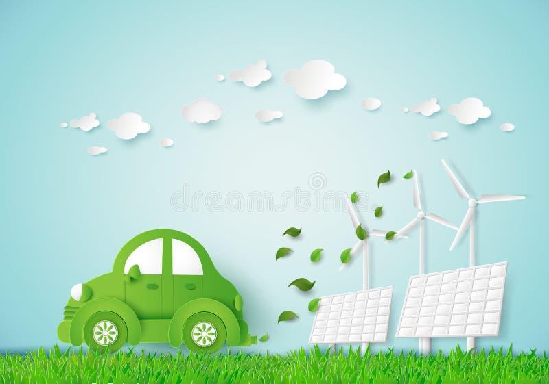 Eco car stock illustration