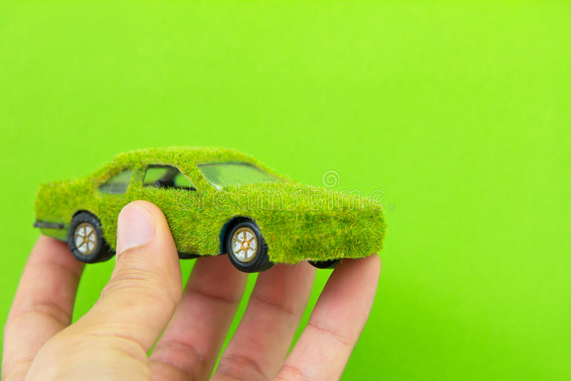 Download Eco Car Icon Isolate On Green Backgro Stock Image - Image: 24333763