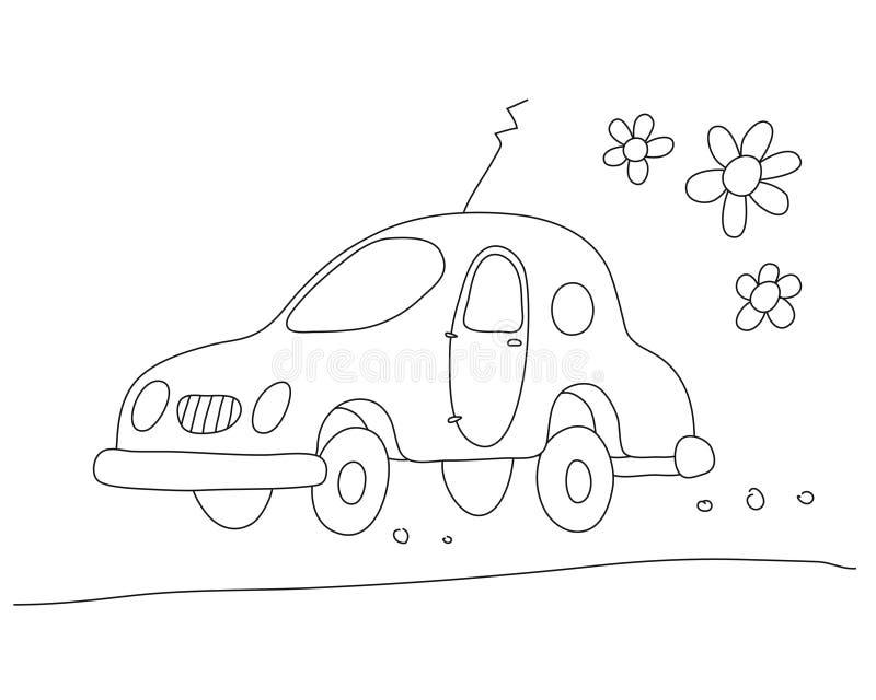 Eco-carro (vetor) ilustração royalty free