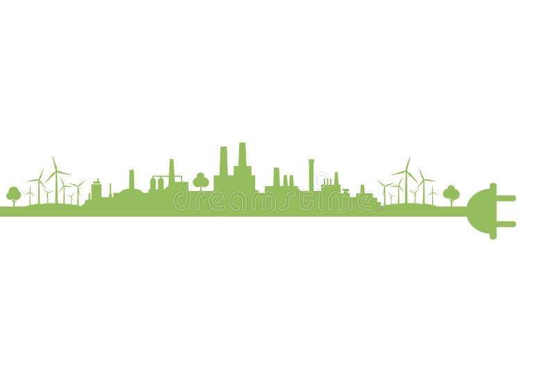 Eco city2 διανυσματική απεικόνιση