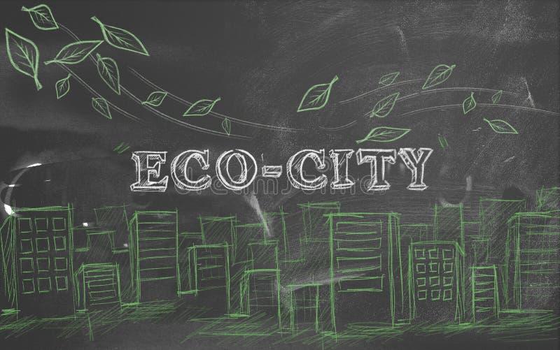 Download Eco-city Green Tourism Blackboard Stock Illustration - Image: 33957361