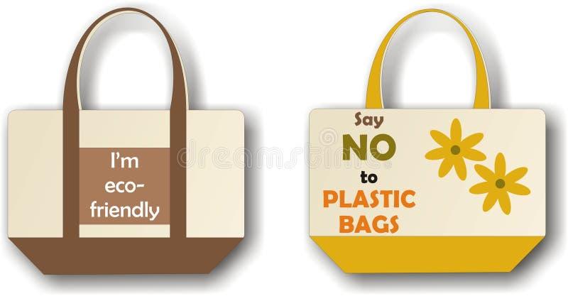 Eco cloth bag vector illustration