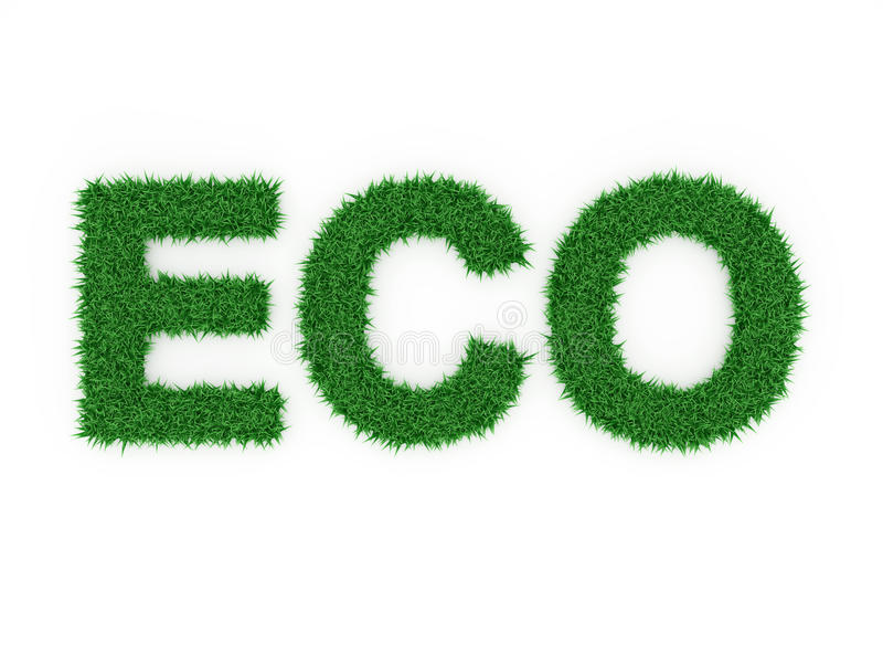 ECO Concpet. ECO Concept - 3D Rendered Images royalty free illustration