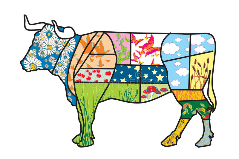 Eco cow royalty free stock images