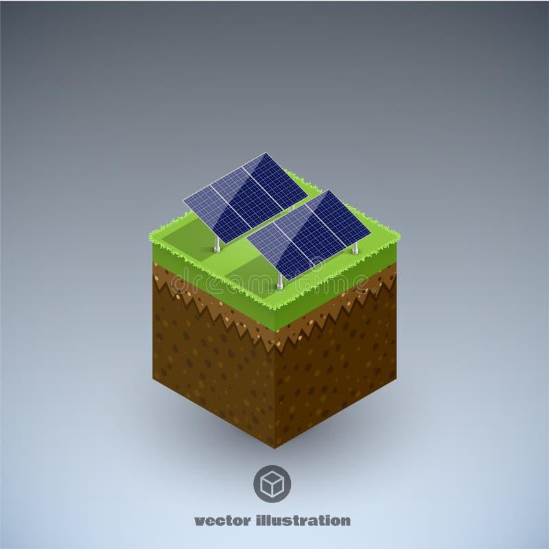 Eco cubik minimal isometric concept eps 10 stock illustration