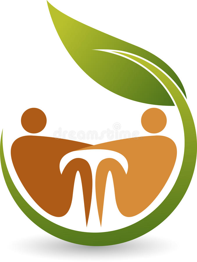 Eco cynaderki opieki logo royalty ilustracja