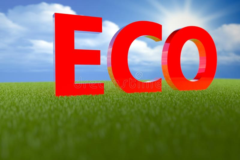 Eco 3D foto de stock