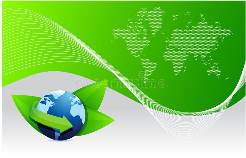 Eco de globe de la terre verte illustration libre de droits