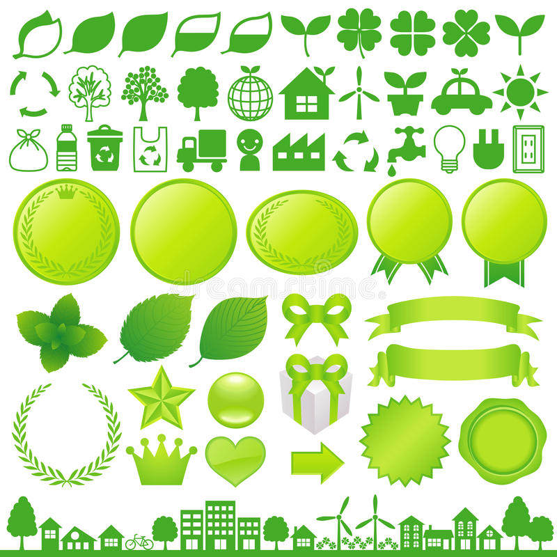 Eco decoration vector illustration