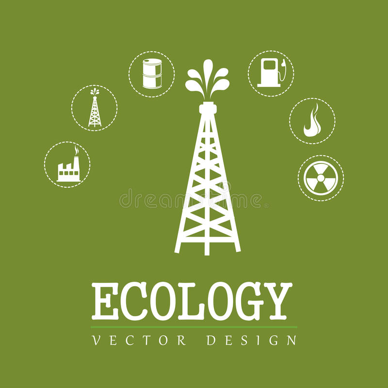 Eco design royalty free illustration