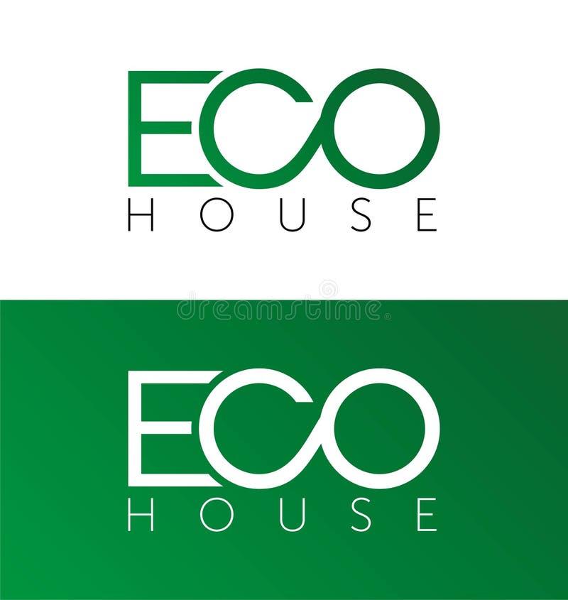 Eco dom, domowy logo, domowy logotyp, eco, zieleń, wektorowy szablon ilustracji