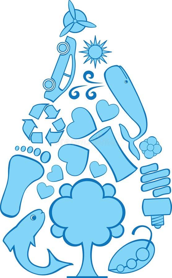 Eco Doodles la gotita fotos de archivo