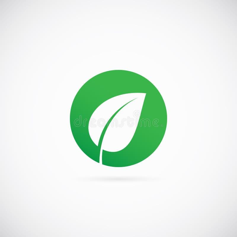 Eco Dot Abstract Vector Symbol Icon ou logo illustration de vecteur