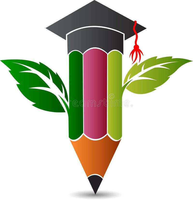 Eco Education logo royalty free illustration
