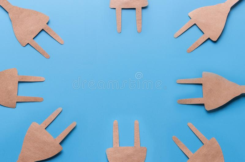 Eco electrical plugs royalty free stock photo