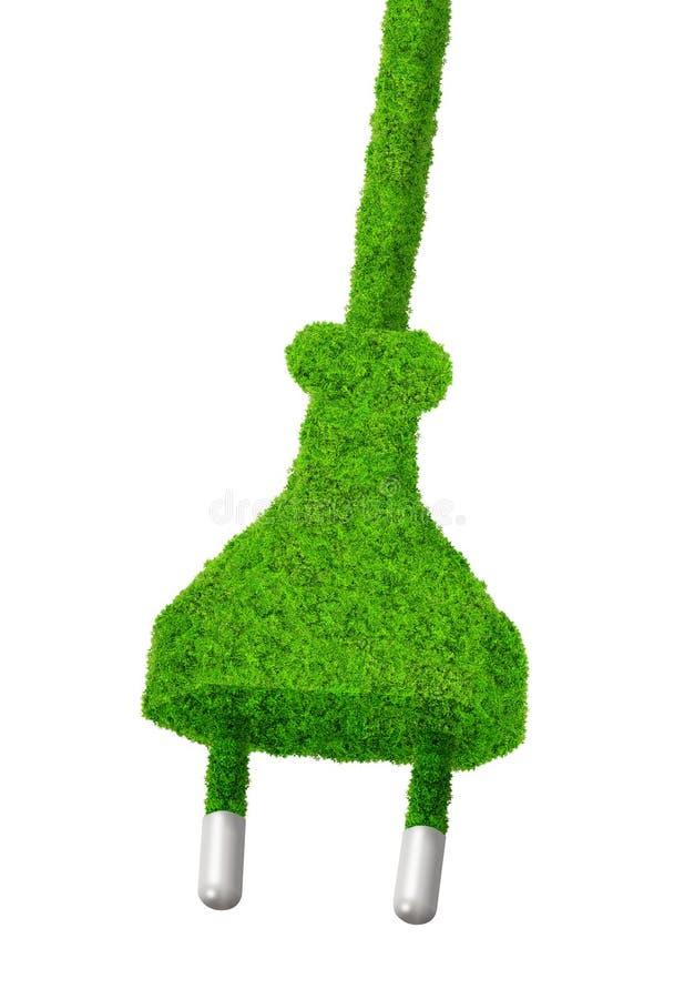 Eco elektrische stop royalty-vrije illustratie