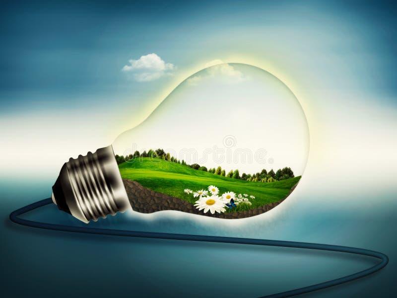 Eco energi vektor illustrationer