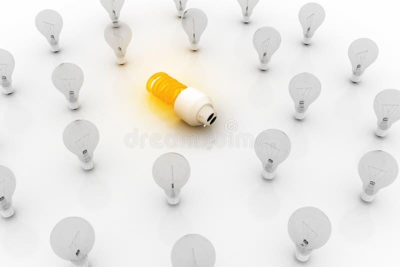Eco energi - sparande begrepp för ljus kula royaltyfri foto