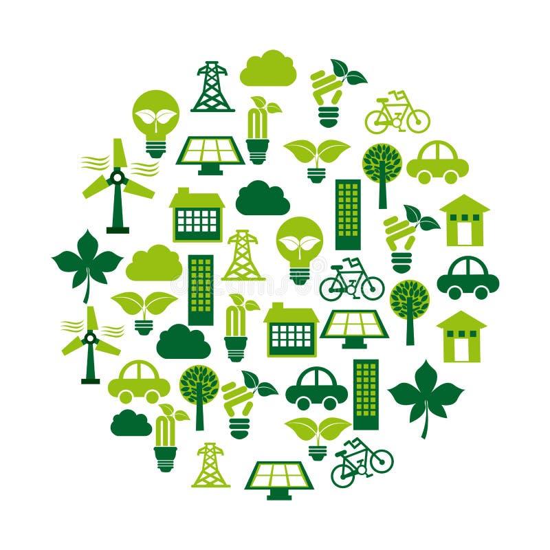 Eco Energie lizenzfreie abbildung