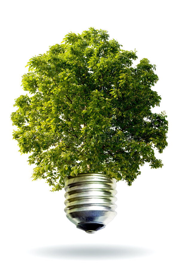 Eco Energiekonzept lizenzfreie stockfotos